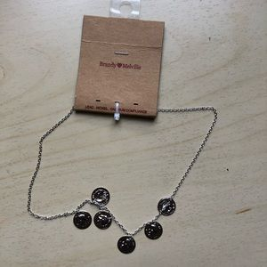 brandy melville silver coin chain necklace